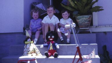 Christmas 1967. From left: the writer Helen Pitt aged two (recovering from measles), ABC election analyst Antony Green and his sister Dawn.