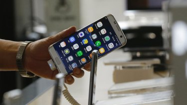A Samsung Galaxy Note 7 smartphone, which is being recalled.