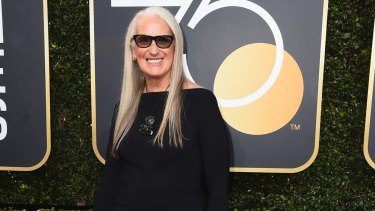 Jane Campion, at the Golden Globes in January. Without her, Hogan says, there would be no Muriel.