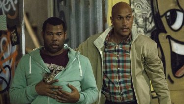 Peele with Key & Peele collaborator Keegan-Michael Key.