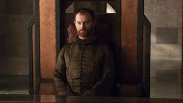 We'd be happy to lend you the money to wage war on Westeros. Do you need a new car too? Mark Gatiss as the banker.