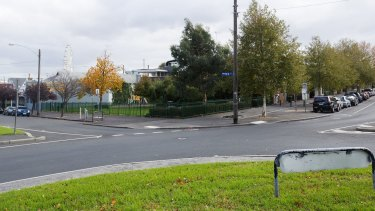Unused roads are being converted to parks in areas of North Melbourne, including the corner of Hawke and Adderley streets.