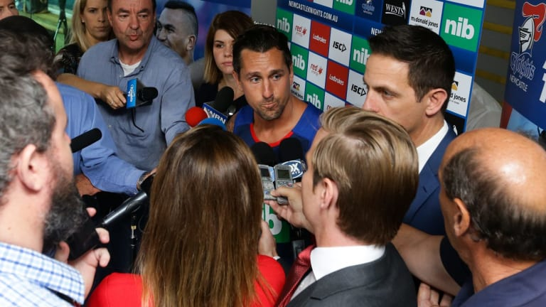 Warned off Manly: Those close to new Knights signing Mitchell Pearce had steered him clear of the Sea Eagles.