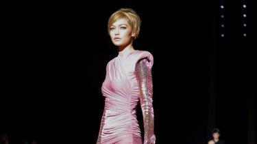 Gigi Hadid opens for Tom Ford at New York Fashion Week.