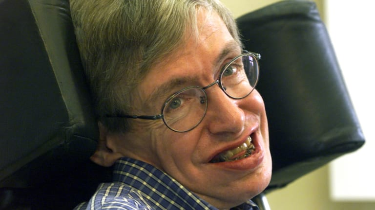 Stephen Hawking, physicist and cosmologist, Berlin,1999.