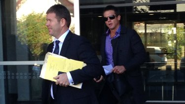 Ben Cousins appeared in court in Fremantle on Wednesday morning over a driving incident.