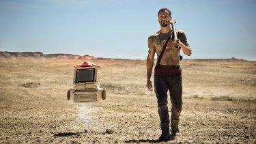 Home-grown sci-fi ... Kye (Dan Mor) and robot.