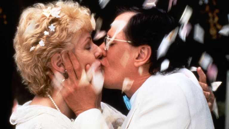 Geoffrey Rush and Lynn Redgrave in a scene from Shine