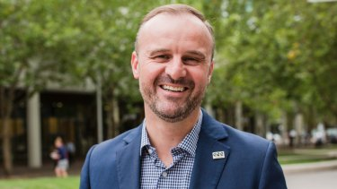 ACT chief minister Andrew Barr: Buoyed by strong growth in the economy.