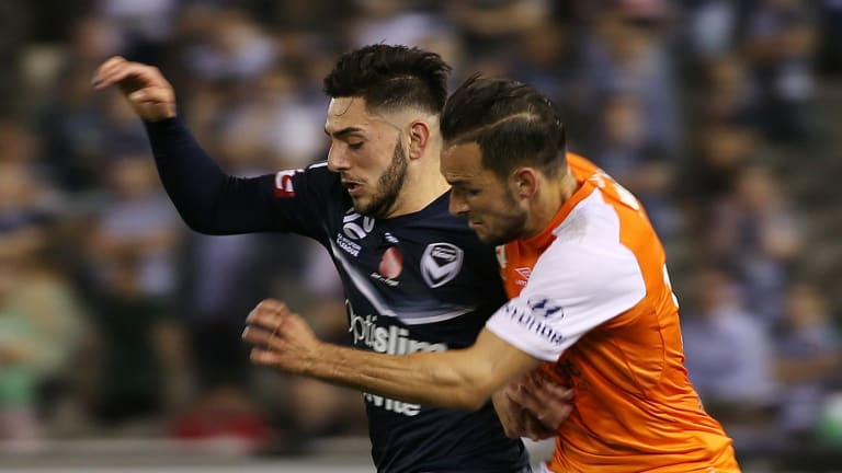 Christian Theoharous had a huge impact against Brisbane Roar.