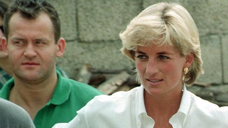 Paul Burrell and Princess Diana.