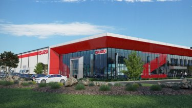 Construction is about to start on the Isuzu Trucks facility at DEXUS Industrial Estate, Laverton North.