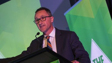 Richard Di Natale at the 2016 Australian Greens National Conference in Melbourne.