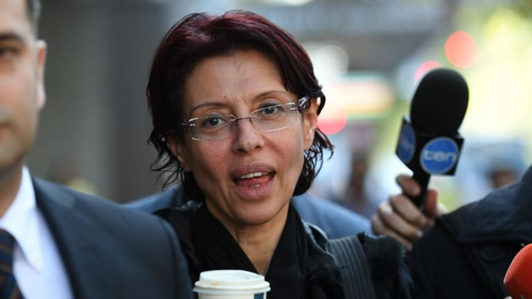 Former Australian of the year finalist Eman Sharobeem at the ICAC on Monday.