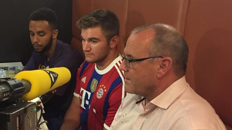 From left to right: Anthony Sadler, Alek Skarlatos and Chris Norman tell a press conference at Arras City Hall of the events on the Thalys train from Amsterdam to Paris. Photo: Arras City Hall, AP