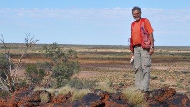 Professor Franco Pirajno, geologist at the University of Western Australia, in the Earaheedy Basin in Western Australia.