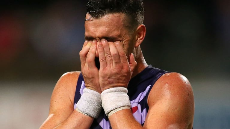 Suspended: Fremantle's Ryan Crowley.