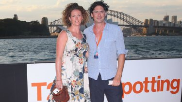 Colin Fassnidge and wife Jane at the <i>T2 Trainspotting</i> premiere in Sydney on Thursday.