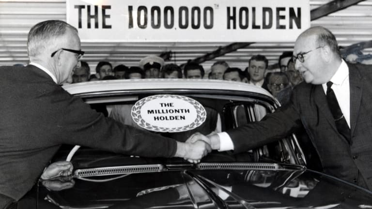 The millionth Holden rolls off the production line at a Dandenong car Factory back in the days when the working class still had a decent standard of living.