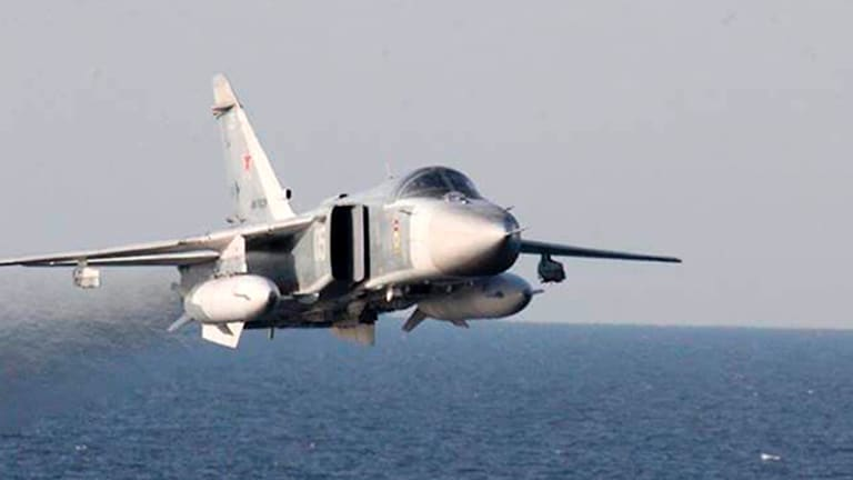 In a 2016 incident, a Russian Su-24 aircraft makes a low altitude pass by the USS Donald Cook in the Baltic Sea.