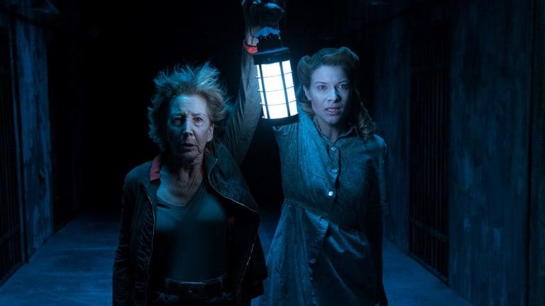 Lin Shaye as Dr. Elise Rainier and Caitlin Gerard as Imogen Rainier in <i>Insidious: The Last Key</i>.