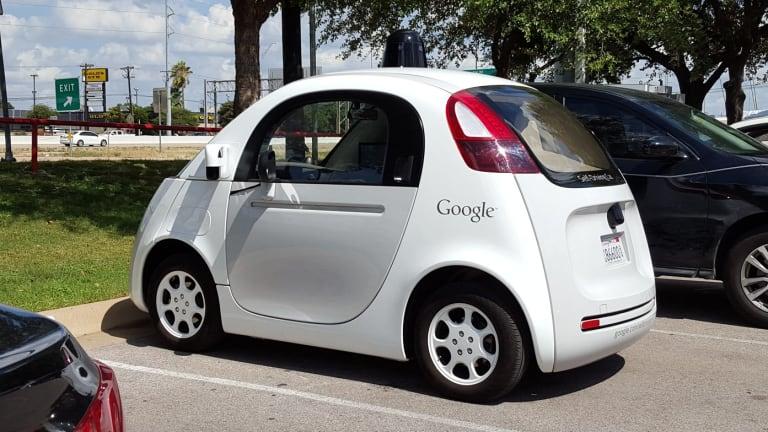A Google driverless car.