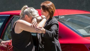 Tiahleigh's foster mother Julene Thorburn as she was taken into custody.