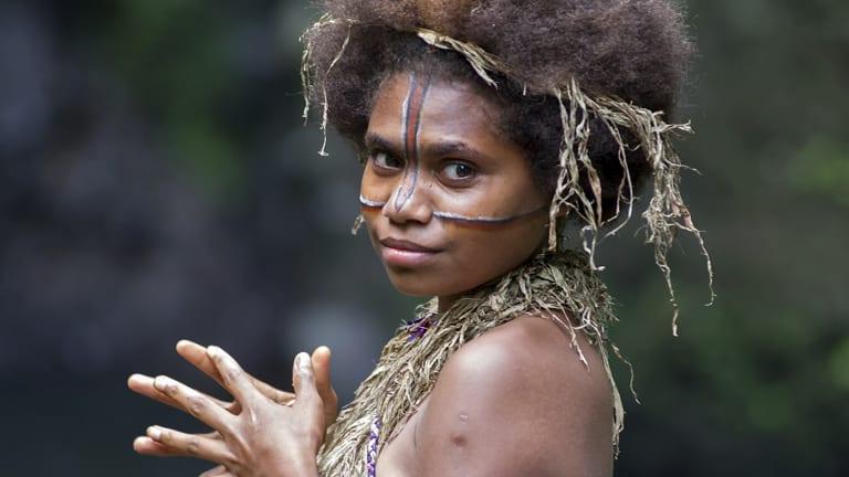 Vanuatu villager Marie Wawa plays Wawa in the tribal romance <i>Tanna</i>.