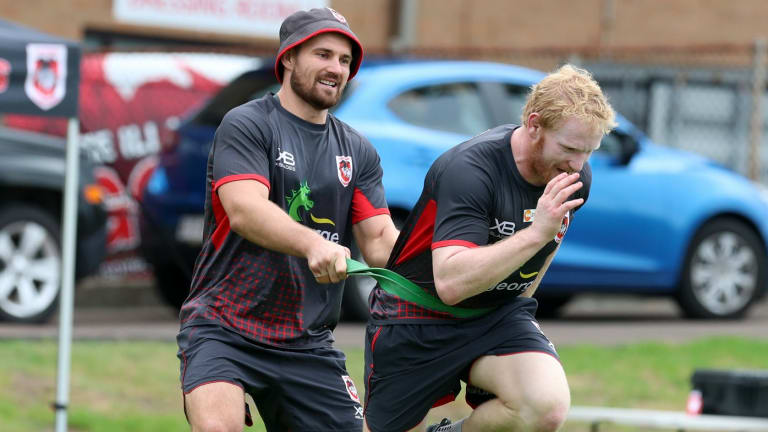 Settling in: New arrival James Graham has been impressed with the Dragons.
