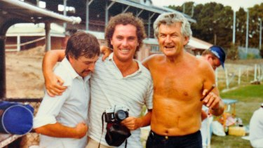 Michael Gordon (centre) with former prime minister Bob Hawke.