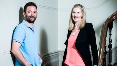 Timelio co-founders Charlotte and Andrew Petris have created a peer-to-peer platform for invoice funding.