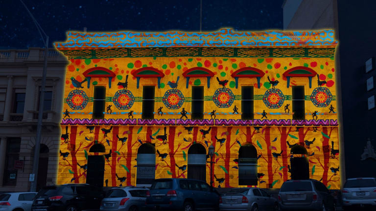 <i>More Than 1 Nation</i> by the Pitcha Making Fellas will be part of the inaugural White Night Ballarat.