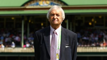 Richie Benaud at the SCG in 2013