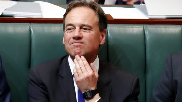 Health Minister Greg Hunt has been acting as if there's no report to consider.