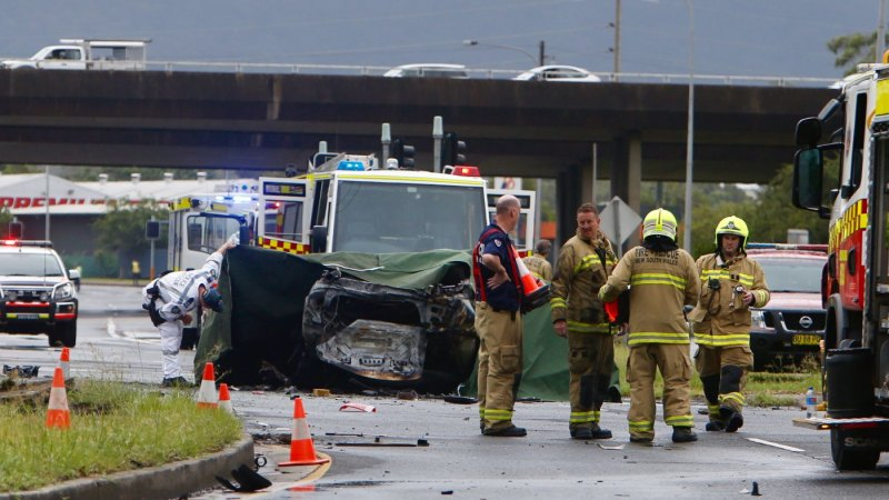 One Person Killed In Fiery Car Crash At Unanderra Near Wollongong