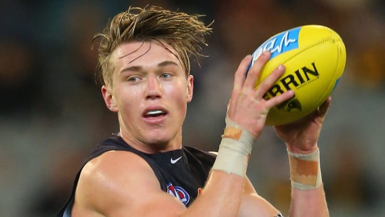 Patrick Cripps, in his second season, polled 68 votes, one ahead of skipper Marc Murphy.