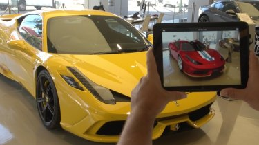 Ferrari allows prospective buyers to view a car in different colours using a smartphone.
