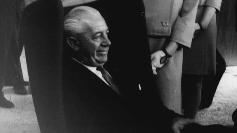 The Prime Minister Harold Holt as seen in 1967.
