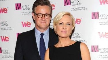 MSNBC's <i>Morning Joe</i> co-hosts Joe Scarborough and Mika Brzezinski.