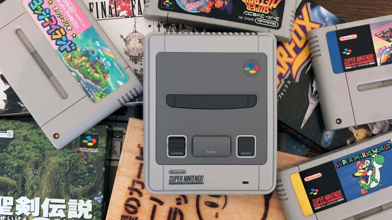 The SNES Mini isn't much bigger than two original SNES cartridges stacked on top of each other.