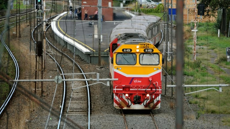 Passengers were stuck on the stranded V/Line train for three hours.