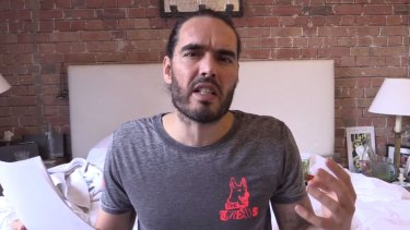 Russell Brand has hit out at Tony Abbott in his latest YouTube video.