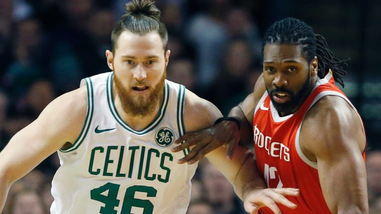 Aron Baynes is headed to London with the Celtics.