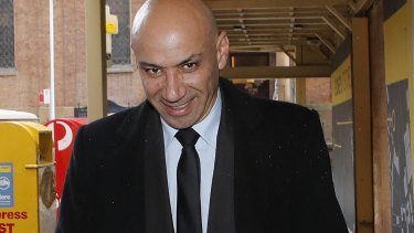 Moses Obeid leaves the Supreme Court on Wednesday.