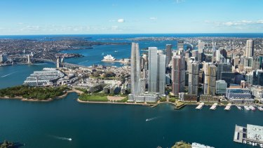 The proposed Crown Sydney casino at Barangaroo.