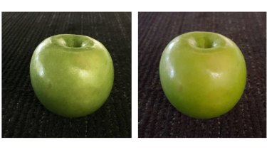 An iPhone 6s photo, left, with brightness lifted. Right, a photo taken with Samsung Galaxy S6, undoctored.