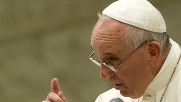 Pope Francis, who has this week outlined changes to marriage rules, speaks in Rome on Saturday.