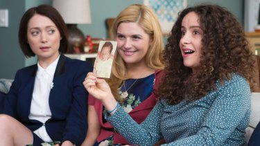 Antonia Prebble, Lucy Durack and Maria Angelico in Sisters.