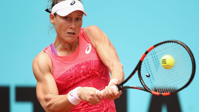 Made to pay for a slow start: Samantha Stosur.