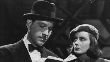 Greta Garbo and Melvyn Douglas in Ernst Lubitsch's Ninotchka.